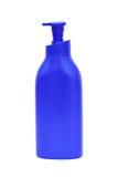 Пластичный насос бутылки геля, жидкостного мыла, лосьона, сливк, шампуня Стоковые Изображения RF