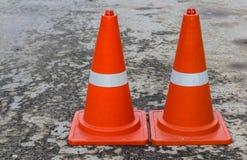 Пластичный оранжевый конус дороги Стоковая Фотография