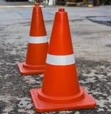 Пластичный оранжевый конус дороги Стоковая Фотография RF