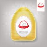 Пластичный пищевой контейнер для цыпленка yellow Стоковые Фотографии RF
