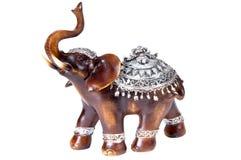 Пластичный серый figurine слона Стоковые Изображения RF