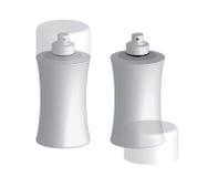 Пластичный спрейер разливает шаблон по бутылкам вектора контейнера Стоковое фото RF