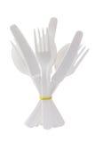 Пластичный столовый прибор Стоковое Фото