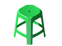 пластичный стул табуретки 3D Стоковое фото RF