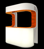 Пластичный счетчик будочки стоковое изображение