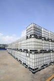 Пластичный химический танк стоковая фотография