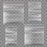 Пластичный шаблон вектора сумки молнии Стоковые Фото