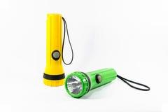 Пластичный электрофонарь факела изолированный на белизне Стоковые Фотографии RF