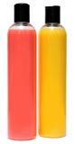 2 пластичных бутылки геля шампуня или ливня Стоковое Изображение RF