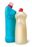 2 пластичных бутылки дезинфектанта близко Стоковое фото RF