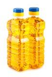 2 пластичных бутылки подсолнечного масла Стоковая Фотография