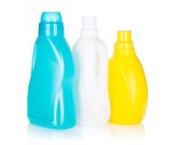 3 пластичных бутылки продукта чистки Стоковое фото RF