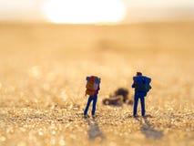 2 пластичных игрушки с рюкзаком Стоковое фото RF