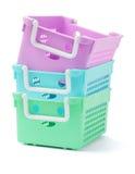 3 пластичных корзины Стоковая Фотография RF
