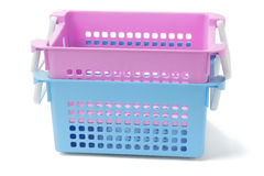 2 пластичных корзины Стоковое Изображение