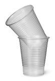 2 пластичных одина другого чашек Стоковая Фотография