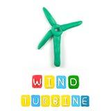 Пластилин ветротурбины детей цвета стоковая фотография