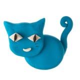 Пластилин кота Стоковая Фотография