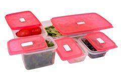 Пластмасовые контейнеры Стоковая Фотография