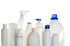Пластмасовый контейнер чистящих средств стоковые изображения rf
