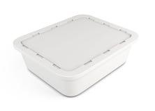 Пластмасовый контейнер шаблона для еды 3d бесплатная иллюстрация