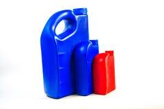 Пластмасовый контейнер для изолированного автотракторного масла, бутылки машинного масла Стоковые Фото
