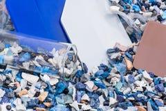 Пластмасса перезатачивает с образцами и испытани-стеклом Стоковые Изображения RF