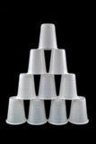 Пластмасса придает форму чашки пирамида Стоковая Фотография RF
