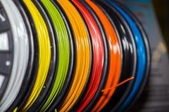 Пластмасса провода ABS для принтера 3d стоковые фото