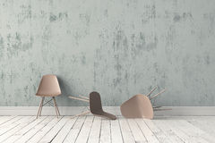 пластмасса стула самомоднейшая Стоковые Фотографии RF