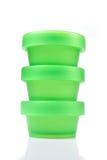 пластмасса чашки зеленая Стоковые Фотографии RF