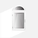 Пластмасса Glosed Windows вектора Стоковая Фотография