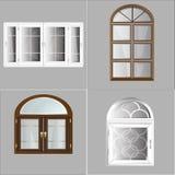 Пластмасса Glosed Windows вектора Стоковое Фото