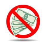 Платеж наличными запрета бесплатная иллюстрация