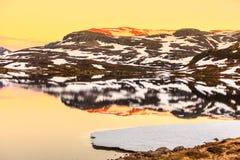Плато горы Hardangervidda в Норвегии Стоковое Изображение