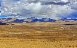 Плато Тибета Стоковые Фотографии RF