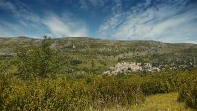 Плато Col de Vence в Pre Alpes в южной Франции сток-видео