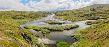 Плато Hardangervidda в Норвегии Стоковое Фото
