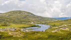 Плато Hardangervidda в Норвегии Стоковая Фотография