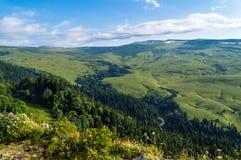 Плато Lago Naki долины в Adygea Стоковые Фотографии RF