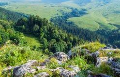 Плато Lago Naki долины в Adygea Стоковая Фотография