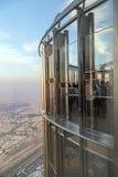 Платформа замечания Burj Дубай Khalifa, ОАЭ Стоковое Изображение