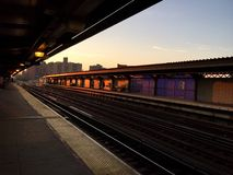 Платформа метро на топить ave , Бруклин, Нью-Йорк Стоковое Фото