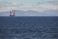 Платформа моря нефти и газ в Норвегии Энергетическая промышленность петролеум Стоковое фото RF