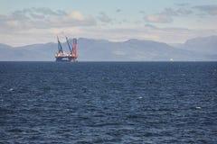 Платформа моря нефти и газ в Норвегии Энергетическая промышленность петролеум Стоковые Изображения RF