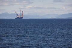 Платформа моря нефти и газ в Норвегии Энергетическая промышленность петролеум Стоковая Фотография RF