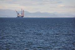 Платформа моря нефти и газ в Норвегии Энергетическая промышленность петролеум Стоковая Фотография