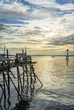 Платформа рыбной ловли Tanjung Harapan Стоковое Изображение RF