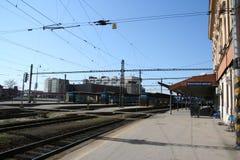 Платформа station_old поезда Брна Стоковое Изображение RF