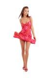 2 платьев повелительницы красный цвет довольно Стоковое Изображение RF